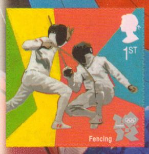 SG3206b 2011 Fencing Self Adhesive Stamp